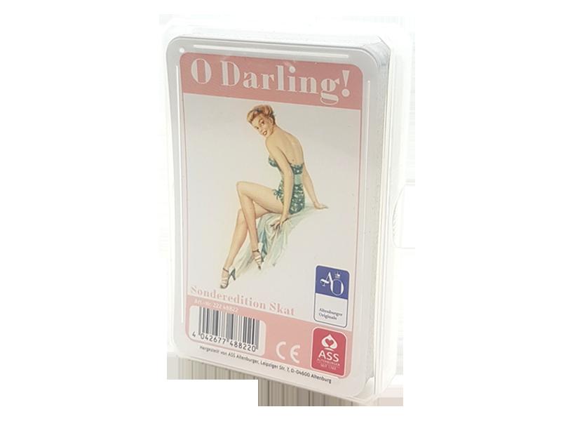 """Skat """"O Darling!"""" Erstauflage seit 1956! Erstmals als Skat, französisches Bild, Edition"""