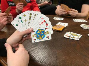 Spielkartenblatt