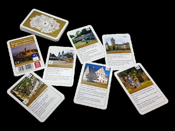 Quartett und Quiz rund um Burgen, Schlösser und Herrenhäuser - enthält 4 Ermäßigungen für Eintritte, Edition