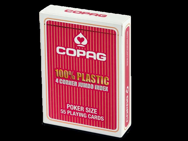 Poker, Plastic Jumbo Face rot- strapazierfähig