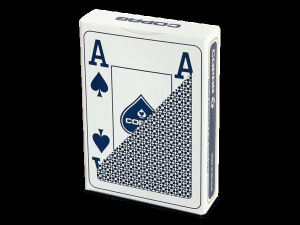 Poker, Plastic Jumbo Face blau - strapazierfähig