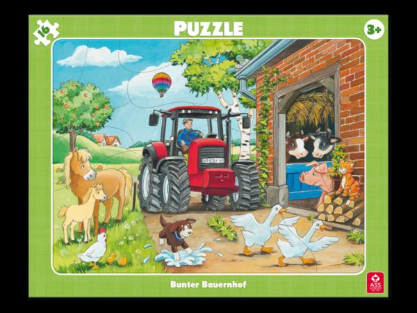 Rahmenpuzzle, Bunter Bauernhof