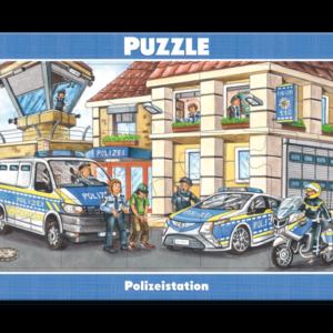 Rahmenpuzzle, Polizeieinsatz