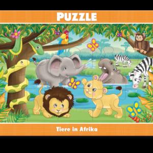 Rahmenpuzzle, Tiere in Afrika