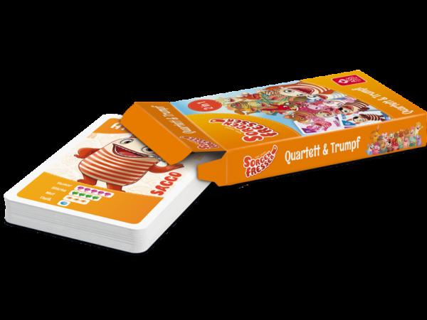 Quartett, Sorgenfresser: Kartenspiel mit Saggo, Polli und ihren Freunden