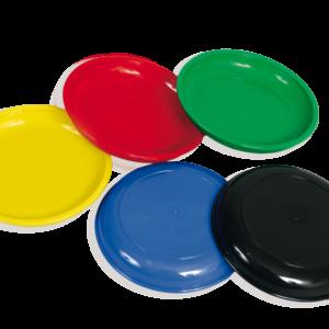 Farbenfrohe Kunststofftellerchen für Jetons oder Geld