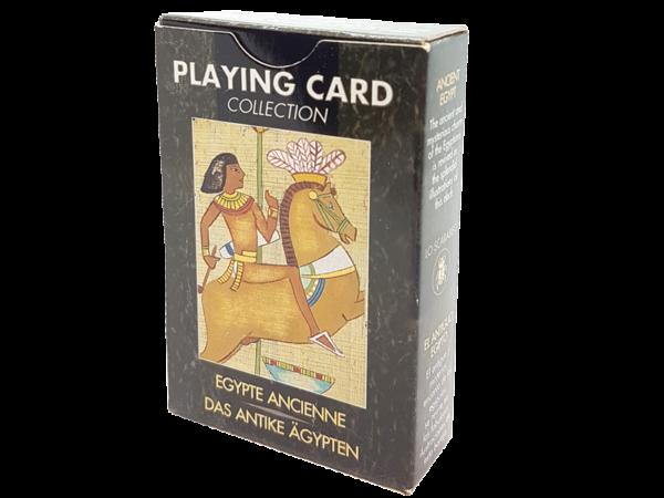 Antiquarische Bridge-Spielkarten zum Thema: Das Alte Ägypten - Geschichte auf Spielkarten erleben, Rückseite
