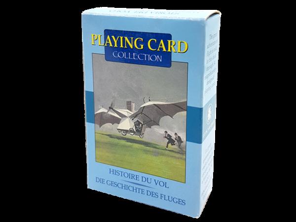 Antiquarische Spielkarten, Bridge, zum Thema: Der Traum vom Fliegen - die Anfänge