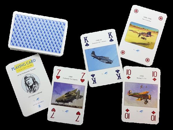 Antiquarische Bridge-Spielkarten zum Thema: Der Traum vom Fliegen - die Anfänge, offen