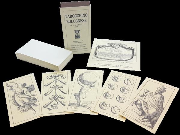 Tarocchino Bolognese - antiquarisches Spiel aus Italien, 1986, offen