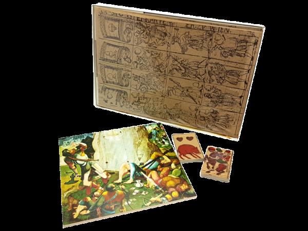 Karnöffel - Antiquarisches Kartenspiel der Landknechte aus dem 15. Jahrhundert, offen