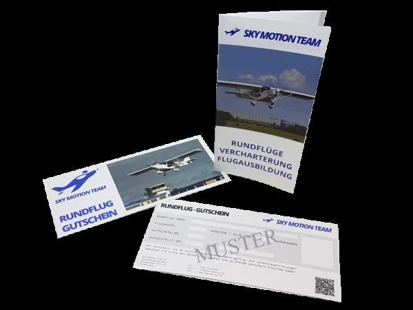 Gutschein für Rundflüge vom Sky Motion Team über verschiedene Regionen in Sachsen, Sachsen-Anhalt und Thüringen