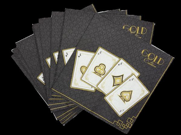 """Servietten """"Gold Edition black"""""""