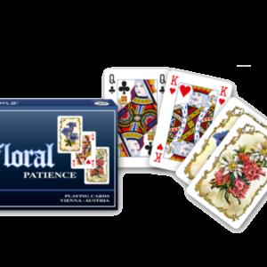 Patience Floral - Hochwertige Spielkarten mit Blumendesign auf den Rückseiten