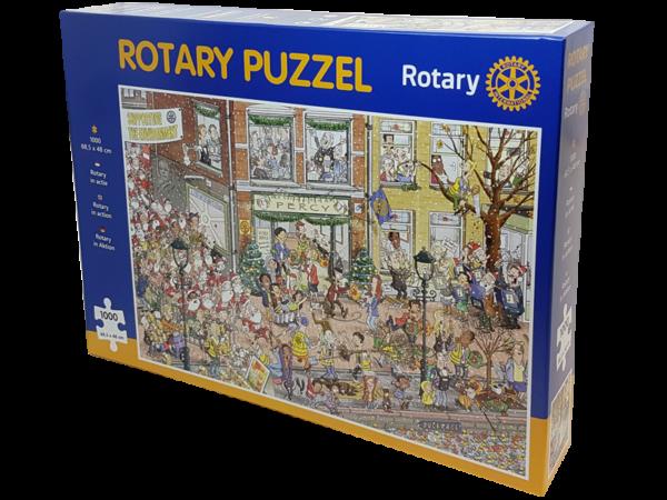 weihnachtliches Rotary-Puzzle - puzzeln für sauberes Wasser