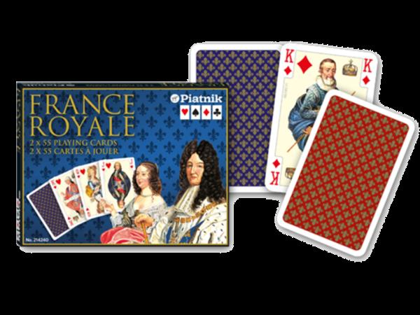 Romme France Royale - Ein Luxusblatt aus dem Hause Piatnik mit farbfroher Gestaltung - liebevoll bis ins Detail.