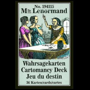 Mademoiselle Lenormand Wahrsagekarten - No. 194115. Nachdruck einer Ausgabe Ende des 19. Jh.