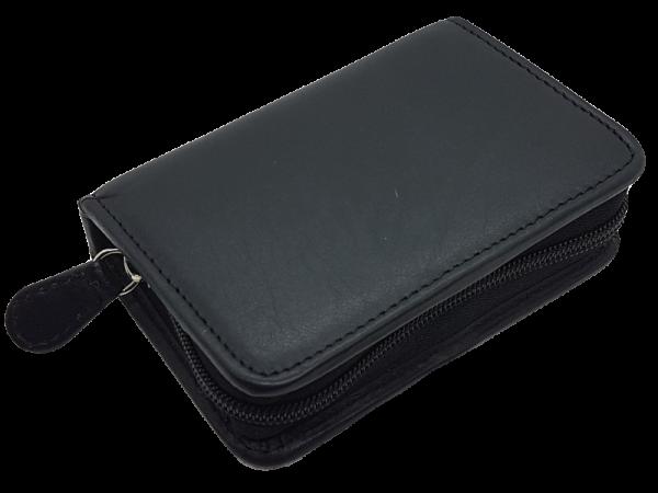 hochwertiges Lederetui für Skat-Karten, echt Leder, liegend