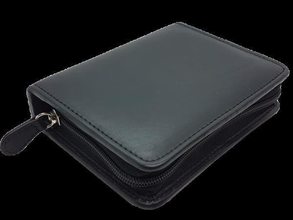 hochwertiges Lederetui für Rommé-Karten, echt Leder, liegend