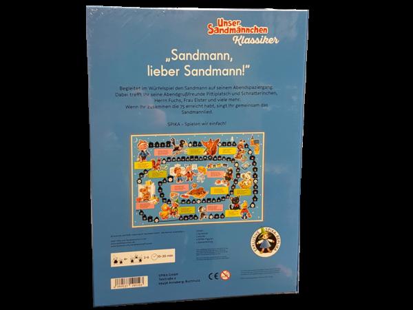 Sandmann-Brettspiel, Rückseite