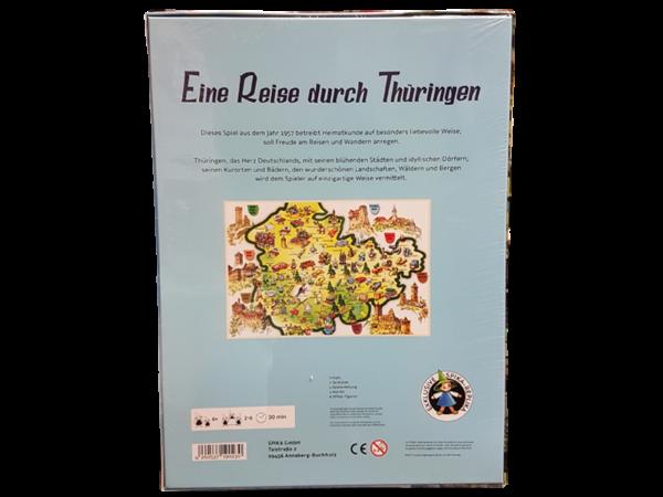 """Brettspiel """"Eine Reise durch Thüringen"""", Rückseite"""